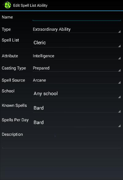 Edit Spell List Ability